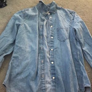 GAP denim XS button down denim shirt.